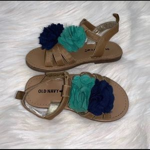 Old Navy Girls Floral Sandals